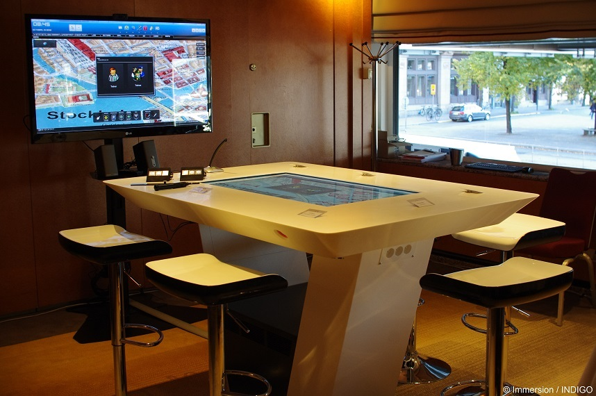 Interactive table, FP7 Indigo - Stockholm, Sude
